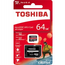 TOSHIBA MICRO SD 64GB M303 4K WITH ADAPTER