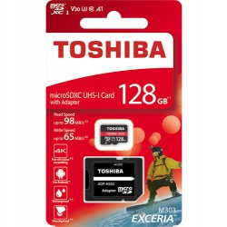 TOSHIBA MICRO SD 128GB M303 4K WITH ADAPTER