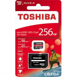 TOSHIBA MICRO SD 256GB M303 4K WITH ADAPTER