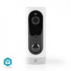 NEDIS WIFICBI10WT Rechargeable IP Camera PIR Motion Sensor MicroSD 3000 mAh