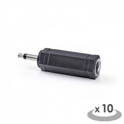 NEDIS CAGP22934BK Mono Audio Adapter 3.5 mm Male - 6.35 mm Female 10 pieces Blac