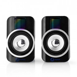 NEDIS GSPR20020BK Gaming Speakers 2.0 RGB USB powered 3.5mm jack 30 W