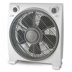"LIFE Vento 12"" box fan in white gray color"