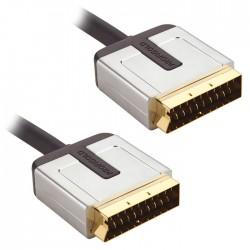 PROV 7101 SCART CABLE 1.00m BLACK PROFIGOLD