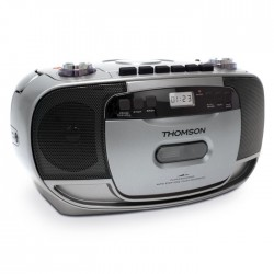 THOMSON RK203CD  PORTABLE RADIO CD/CASSETTE SILVER (4W)