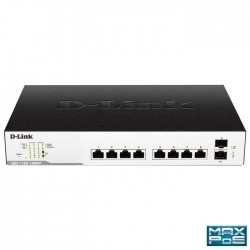 D-LINK DGS-1100-10MPP MAX POE SMART MANAGED GIGABIT 2XSFP 242W