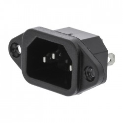 VLEP 11950B Power Plug Male Polyvinylchloride (PVC) Black