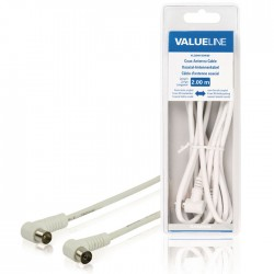 VLSB 40100W 2.00 cable coax male angled - coax female angled