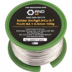 RND 560-00173 - No-Clean Solder Wire B2.1 217°C 0.5mm