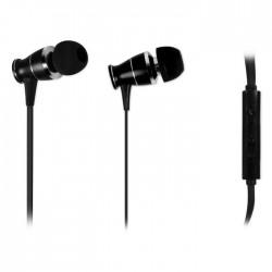 NOD L2M BLACK  METAL HANDSFREE HEADPHONES BLACK COLOR