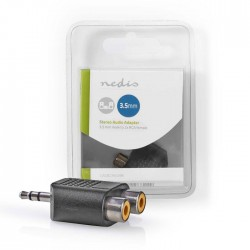 NEDIS CAGB22940BK Stereo Audio Adapter 3.5 mm Male - 2x RCA Female Black