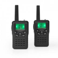 NEDIS WLTK1010BK Walkie-Talkie Range 10 km 8 Channels VOX Charging Base 2 Pieces