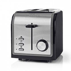 NEDIS KABT120EBK Toaster 2 Wide Slots Black