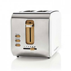 NEDIS KABT510EWT Toaster 2 Wide Slots Soft-Touch White