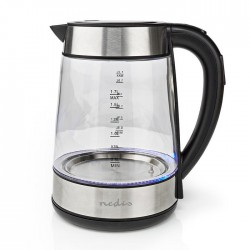 NEDIS KAWK320EGS Electric Kettle 1.7 L 360° Rotation Glass