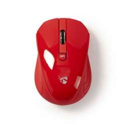 NEDIS MSWS400RD Wireless Mouse 800 / 1200 / 1600 DPI 3-Button Red