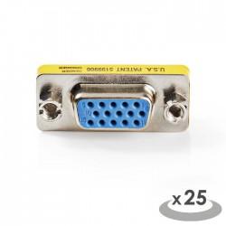 NEDIS CCVC59812ME Gender Changer VGA Male - VGA Female 25 pieces Metal