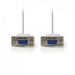 NEDIS CCGP52050IV30 Serial Cable D-Sub 9-pin Female - D-Sub 9-pin Female 3.0 m I