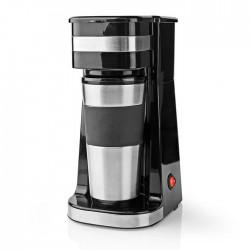 NEDIS KACM300FBK Single-Serve Coffee Maker Double Wall Travel Mug 0.42 L Black