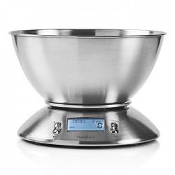 NEDIS KASC111SI Digital Kitchen Scales Illuminated LCD Temperature Alarm Clock M