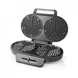 NEDIS KAWP110FBK Waffle Maker 2x 14 cm 1200 W Black