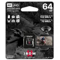 GOODRAM IRDM MICRO SD CARD 64GB UHS-I U3 + ADAPTER 4K