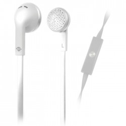 MELICONI MYSOUND SPEAK FLAT WHITE IN-EAR STEREO HEADSET (WITH MICROPHONE)