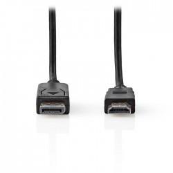 NEDIS CCGT37100BK20 DisplayPort - HDMI Cable DisplayPort Male HDMI Connector 2.0
