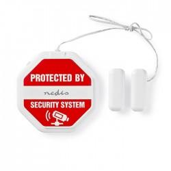 NEDIS ALRMGBD20WT Slim Glass Break Detector Alarm For Doors / Windows Built-In S