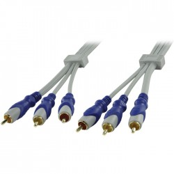 HQSA-080-2.5 STANDARD 3X RCA MALE - 3X RCA MALE CABLE