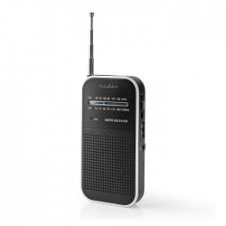 NEDIS RDFM1110SI FM / AM Radio 1.5 W Pocket Size Silver / Black