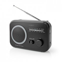 NEDIS RDFM1330GY FM / AM Radio 1.8 W Carrying Handle Grey / Black