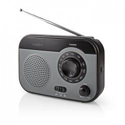 NEDIS RDFM1340GY FM / AM Radio 1.8 W Carrying Handle Grey / Black