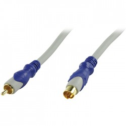 HQSV-300-2.5 RCA MALE - S-VIDEO MALE CABLE
