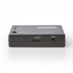 NEDIS VSWI3453BK HDMI Switch 3 Ports 3x HDMI Input 1x HDMI Output 1080p ABS Anth