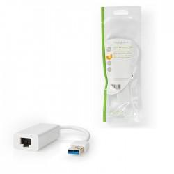 NEDIS CCGP61950WT02 USB 3.0-Adapter USB-A Male - RJ45 Female 1 Gbit 0,2 m White