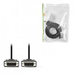 NEDIS CCGP32001BK50 DVI Cable DVI-D 24+1-Pin Male DVI-D 24+1-Pin Male 2560x1600