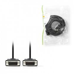 NEDIS CCGP32001BK100 DVI Cable DVI-D 24+1-Pin Male DVI-D 24+1-Pin Male 2560x1600