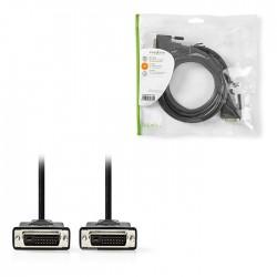 NEDIS CCGP32001BK20 DVI Cable DVI-D 24+1-Pin Male DVI-D 24+1-Pin Male 2560x1600