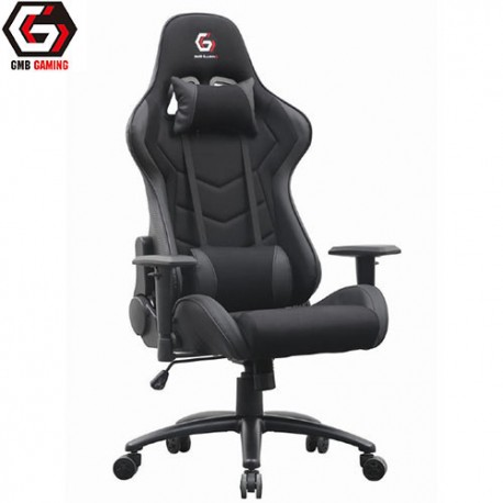 GEMBIRD GAMING CHAIR LEATHER BLACK