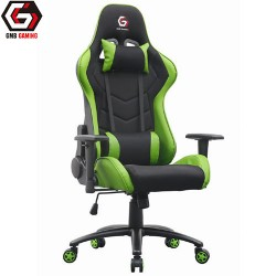GEMBIRD GAMING CHAIR LEATHER BLACK/GREEN