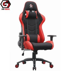 GEMBIRD GAMING CHAIR LEATHER BLACK/RED