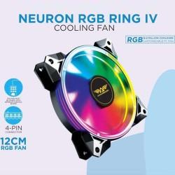 ARMAGGEDDON GAMING PC COOLING FAN (120MM RGB FAN) NEURON RGB RING IV
