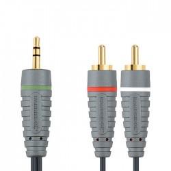BAL3401 3.5mm M - 2x RCA M 1m