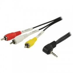 VLVP 22400 B2.00 3.5 mm male - 3x RCA male 2.00 m black