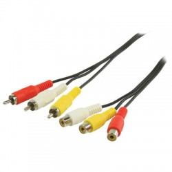 VLVP 24305B 3.00 cable 3x RCA male - 3x RCA female