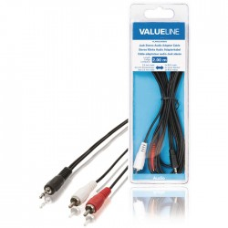 VLAB 22200B 2.00  cable 3.5 mm male - 2x RCA male