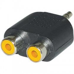 AC-010 3.5mmPLUG-2XRCA SOCKETS