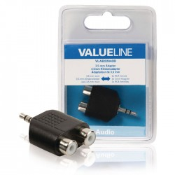 VLAB 22940B adapter 3.5 mm male - 2x RCA female