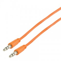 VLMP 22000 O1.00 STEREO AUDIO CABLE 3.5MM ORANGE 1.00m